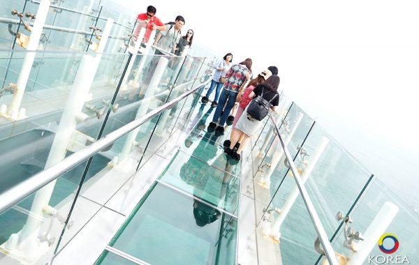 ออยุคโด (Oryukdo Skywalk) ทางเดินลอยฟ้าพื้นกระจก