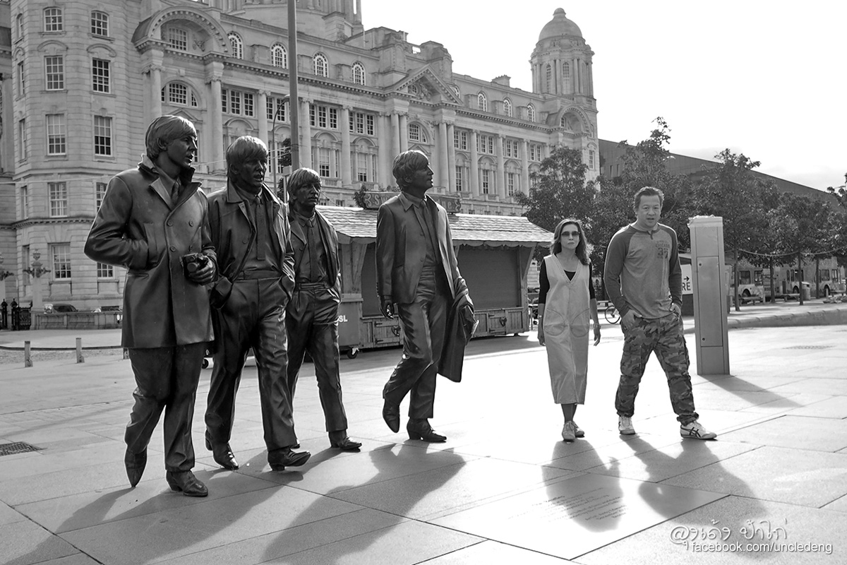 Beatles statue Liverpool waterfront